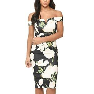 AX Paris Women's Floral Print Bardot Dress | 4
